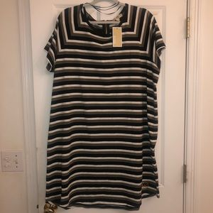 Michael Kors striped dress NWT' S size 2X